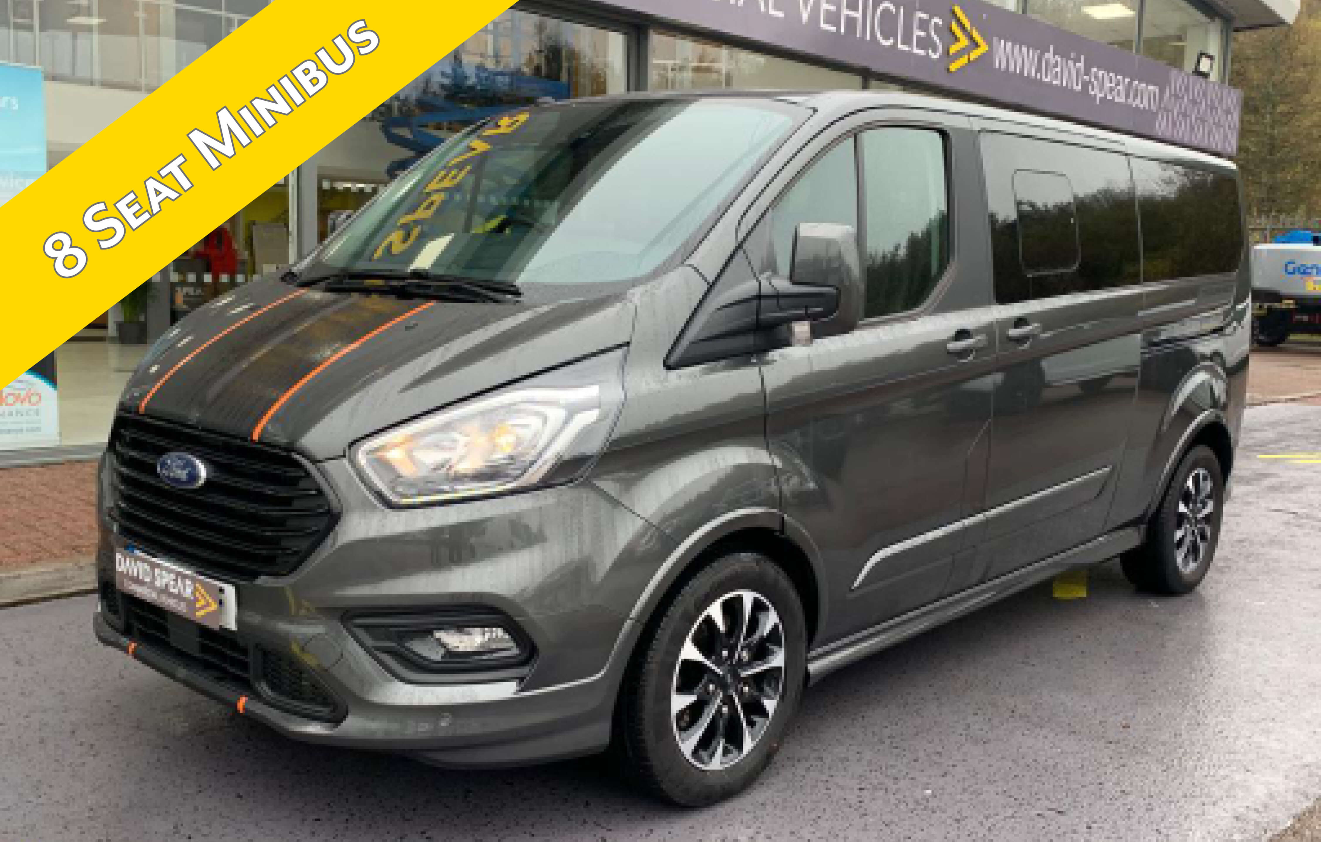 Spear Hire Minibus With Banner (1mb)